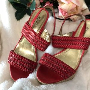 Style & Co Shoes - Style and Co  size 6. Style and. Co red wedges.